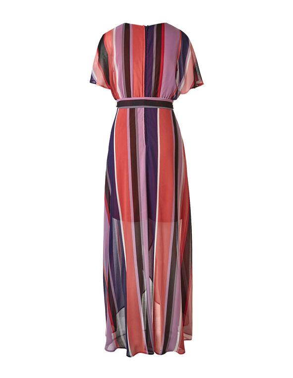 Purple Striped Maxi Dress, Purple, hi-res