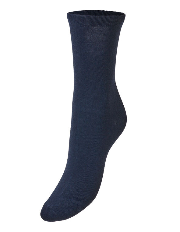 Navy Crew Sock, Navy, hi-res