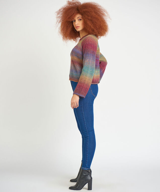 Dex Space Dye Pullover Sweater, Rainbow