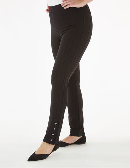 Black Snap Bottom Legging, Black, hi-res