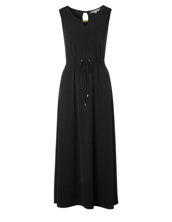 Black Front Tie Maxi, Black, hi-res