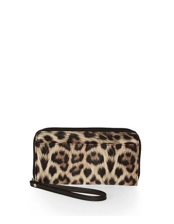 Leopard Print Wallet, Novelty, hi-res