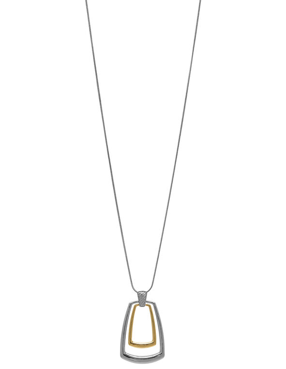 Silver & Gold Long Necklace, Silver/Gold, hi-res