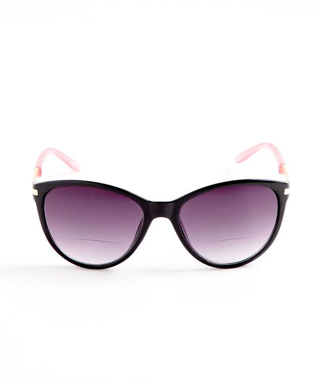 Black Pink Bi-Focal Sunglasses, Black