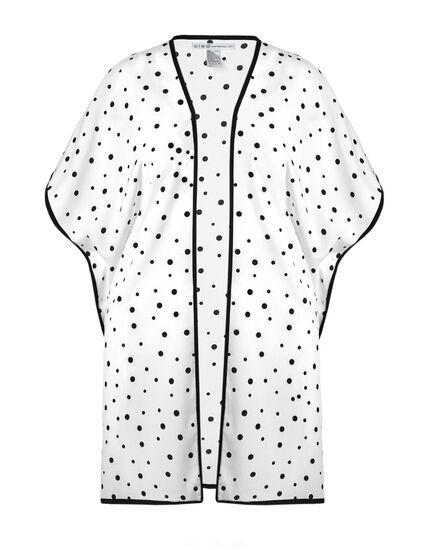 Black Polka Dot Kimono, Black/White, hi-res