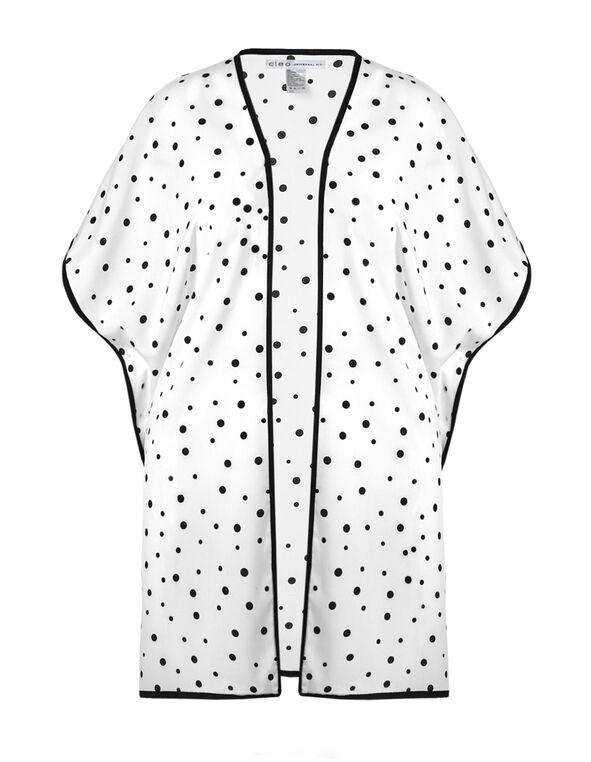 2b9c3d05549b58 ... Black Polka Dot Kimono, Black/White, hi-res