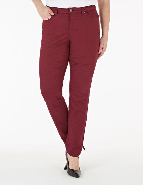Merlot Slim Leg Jean, Wine, hi-res