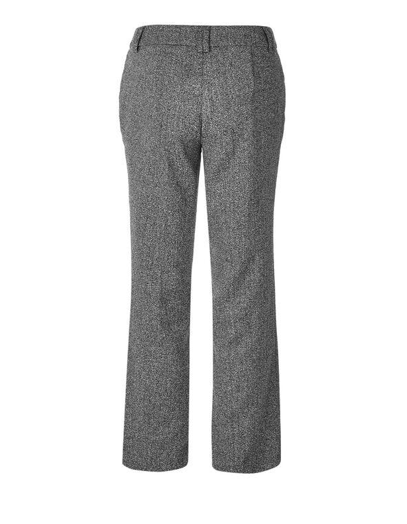 Grey Speckle Wide Leg Trouser, Grey, hi-res
