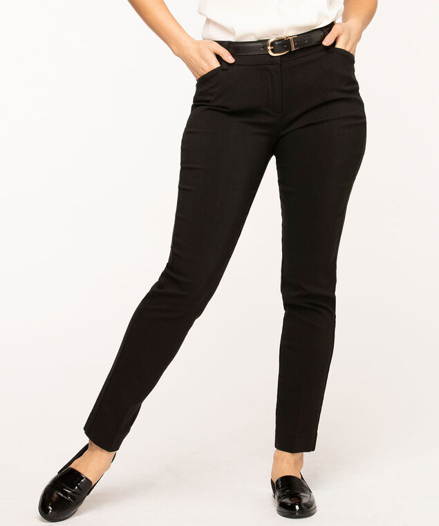 Black Slim Leg Pant, Black
