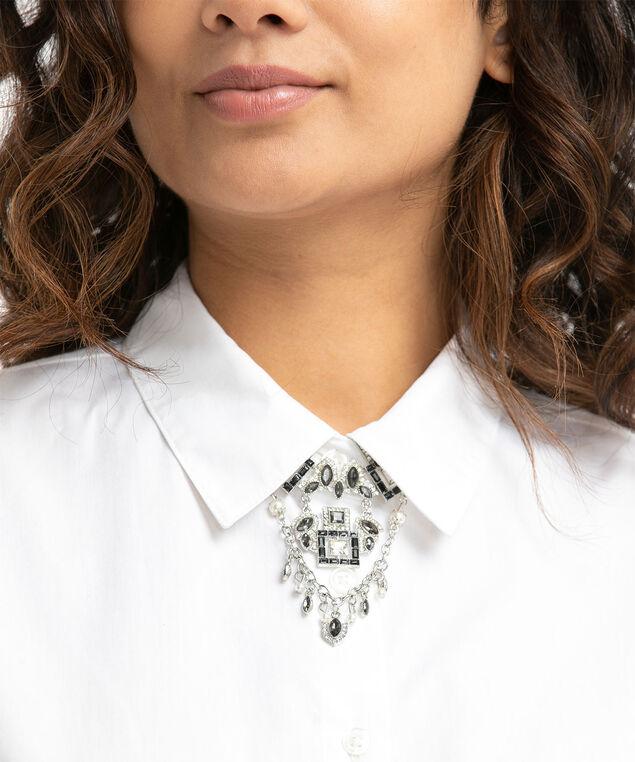 Geometric Crystal Pin, Silver