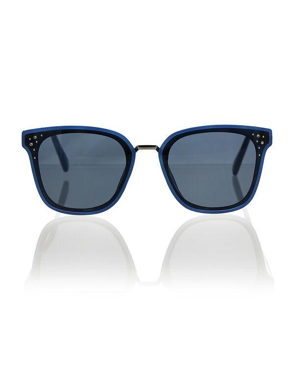 Light Blue Wayfarer Sunglasses, Blue, hi-res