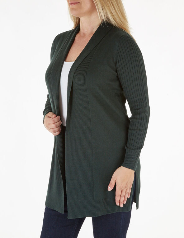 Loden Recycled Fabric Cardigan, Green, hi-res