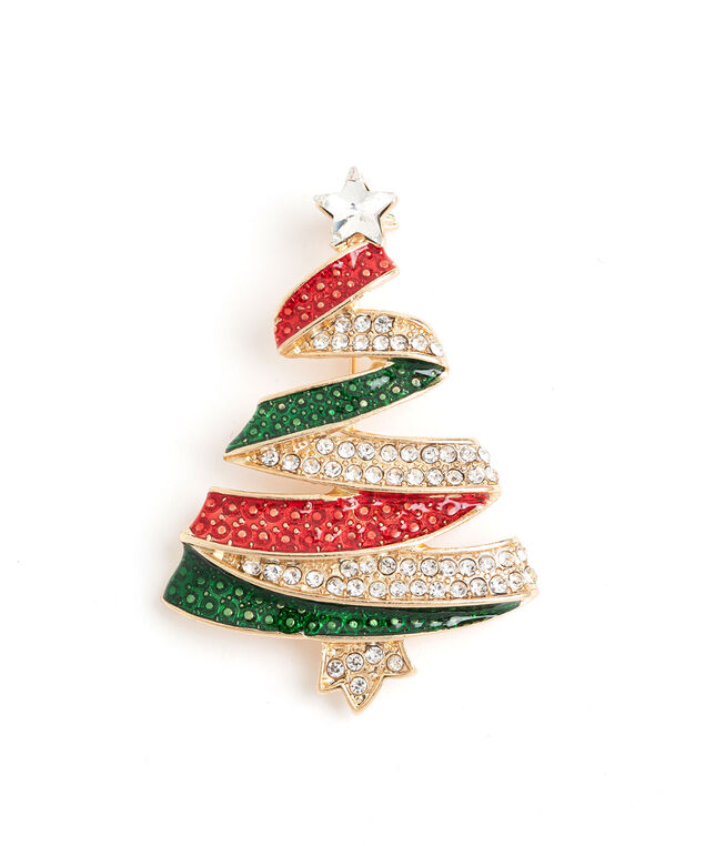 Christmas Tree Pin, Gold