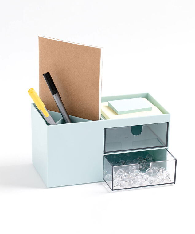 Desktop Storage Box, Light Blue