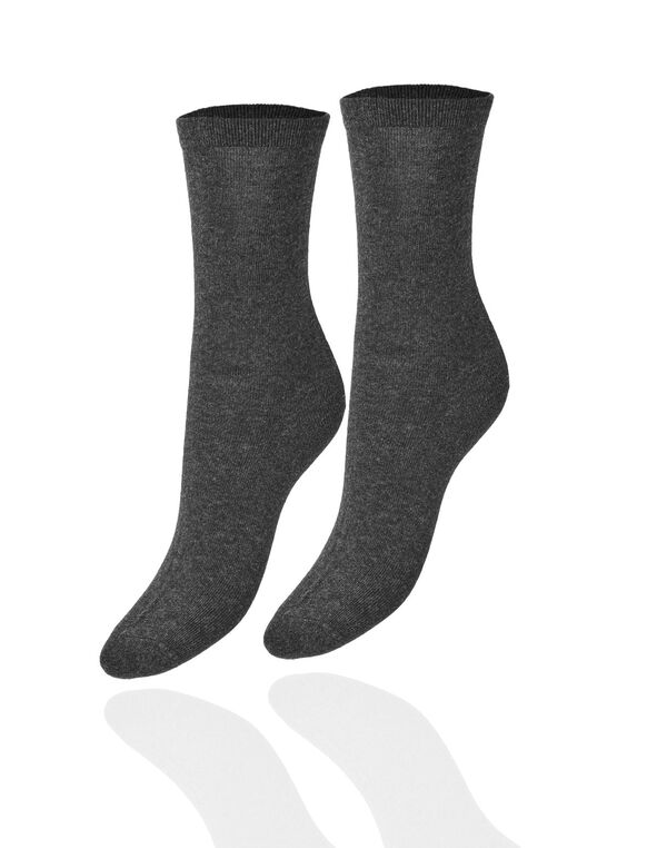 Grey Crew Sock, Grey, hi-res