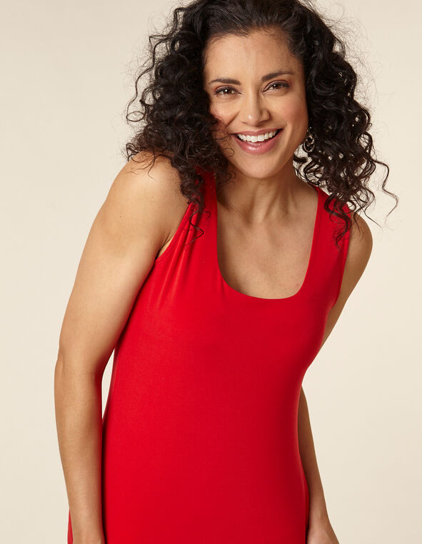 Poppy Essential Layering Tank, Red/Poppy, hi-res