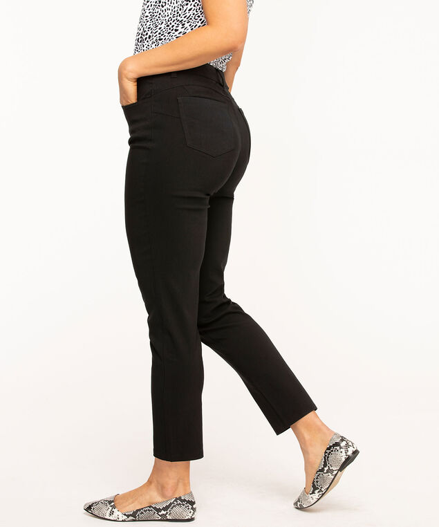 Curvy Butt Lift Ankle Pant, Black