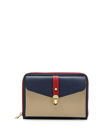 Colour Block Crossbody Bag, Navy, hi-res