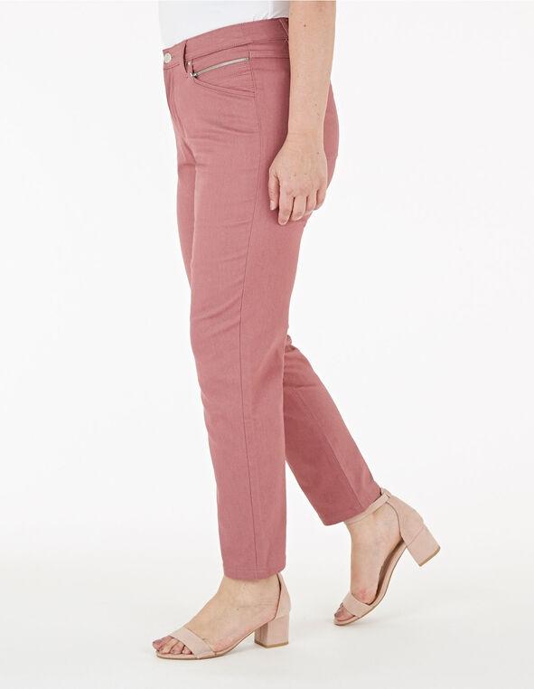 Rose Pink Ankle Jean, Pink, hi-res