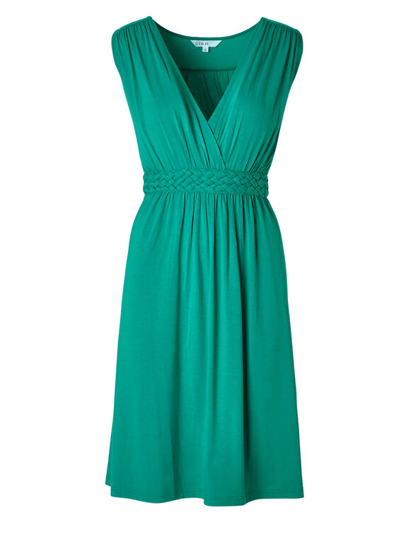 Turquoise Fit & Flare Dress, Turquoise, hi-res