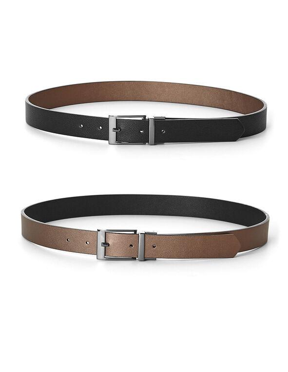 Black/Brown Reversible Belt, Bown/Black, hi-res