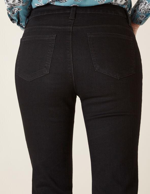 Black Bootcut Jean, Black, hi-res