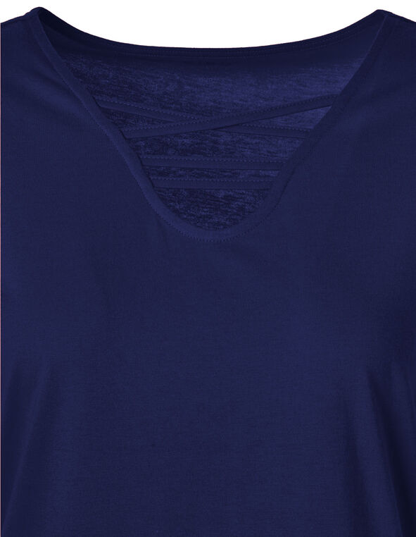 Navy Criss-Cross Tee, Navy, hi-res