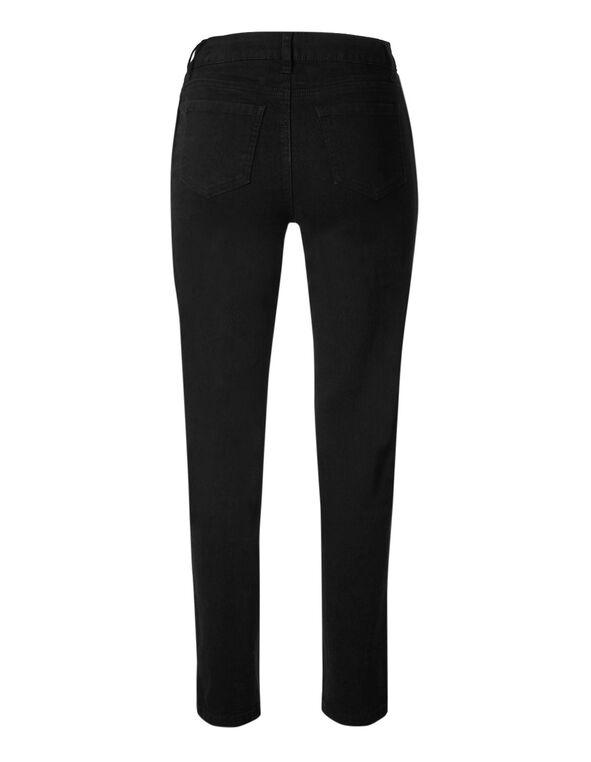 Black Velvet Side Slim Leg Jean, Black, hi-res