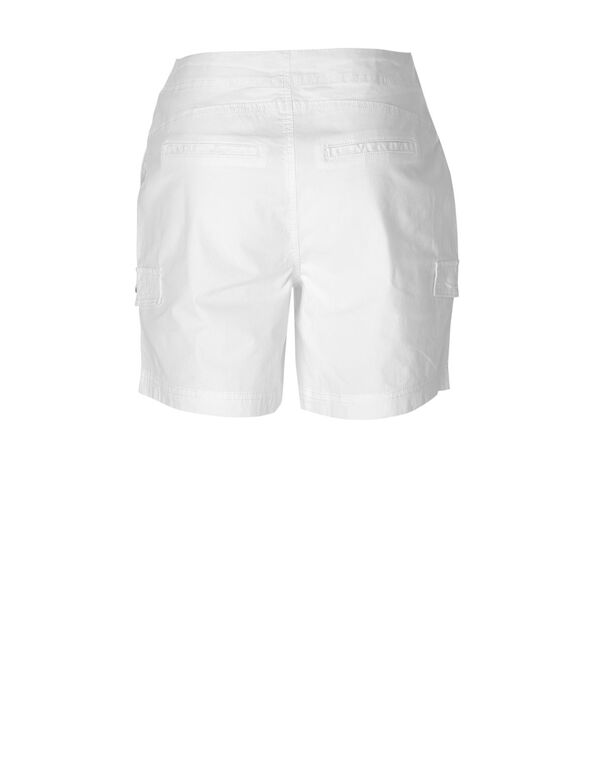 White Cotton Short, White, hi-res