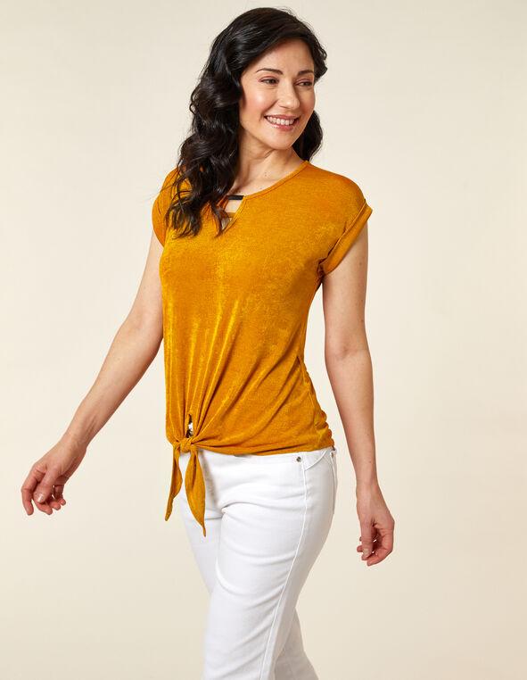 Saffron Slinky Knot Top, Yellow/Saffron, hi-res