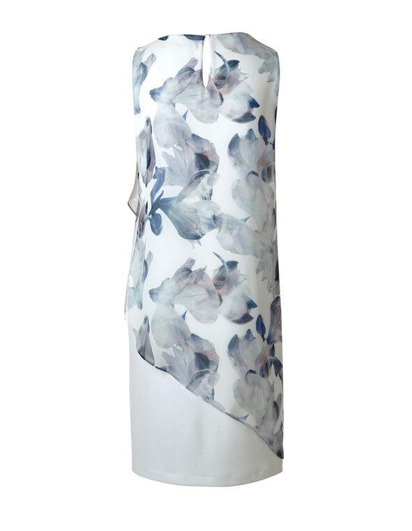 Blue Popover Shift Dress, Blue/White, hi-res