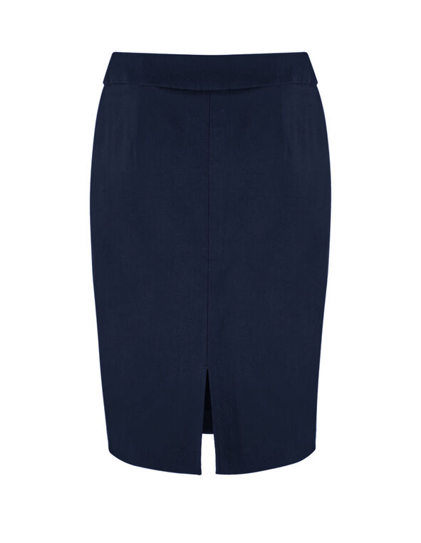 Navy Pull On Pencil Skirt, Navy, hi-res