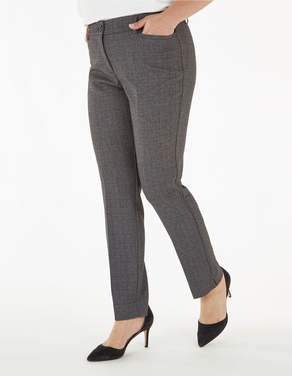 Grey Slim Leg Trouser, Grey, hi-res