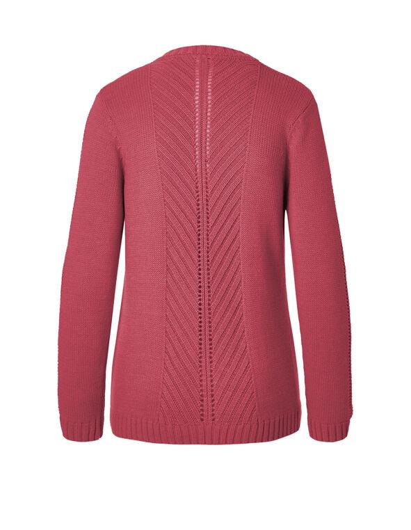 Fresh Pink Mid Open Cardigan, Fresh Pink, hi-res