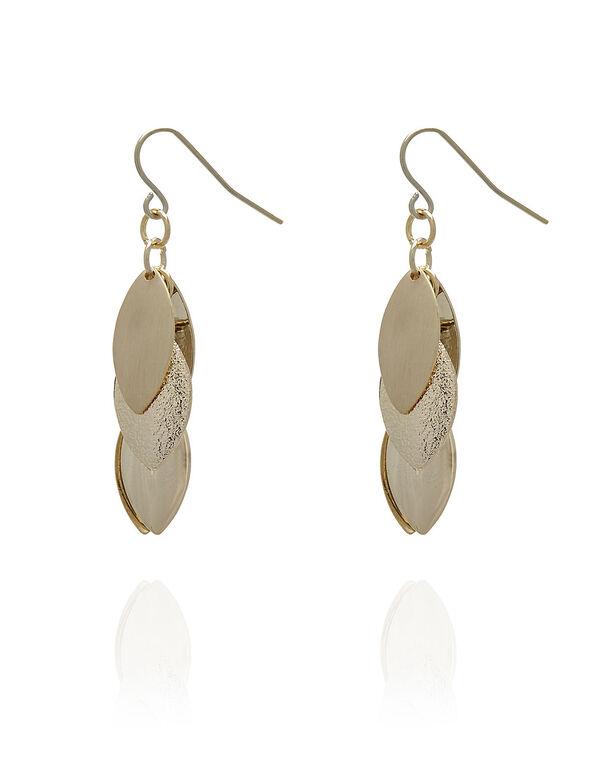 Gold Leaf Earring, Gold, hi-res