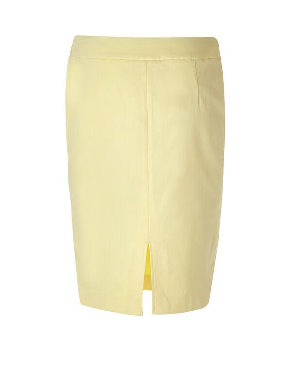 Yellow Signature Pencil Skirt, Yellow, hi-res