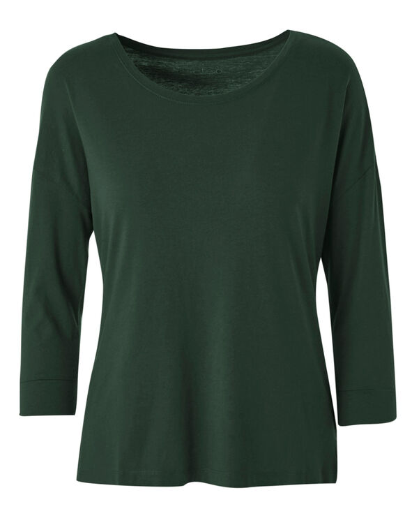 Green Cotton Blend Tee, Green, hi-res