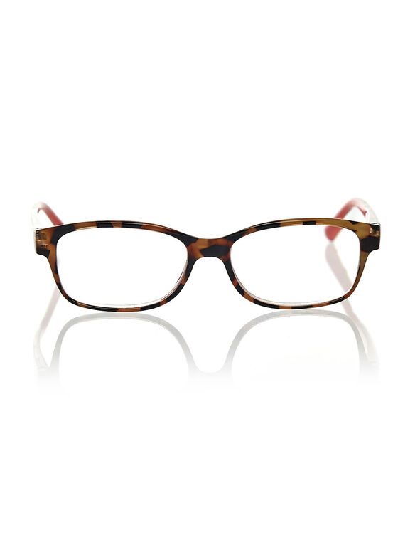 Leopard Printed Reader, Brown, hi-res
