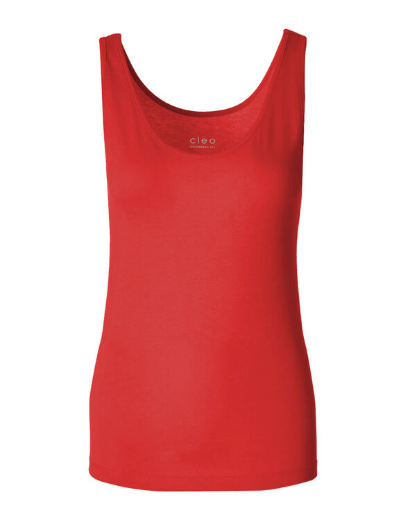 Red Universal Layering Tank, Red, hi-res