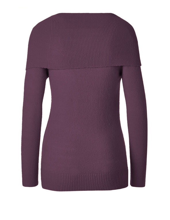Plum Marilyn Lace Up Sweater, Plum, hi-res