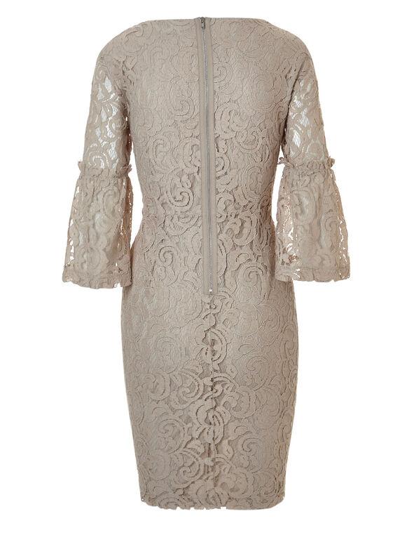 Stone Lace Sheath Dress, Stone, hi-res