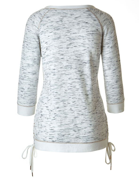Grey French Terry Top, Grey, hi-res
