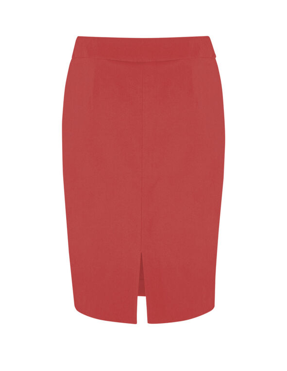 Grapefruit Pull On Pencil Skirt, Pink, hi-res