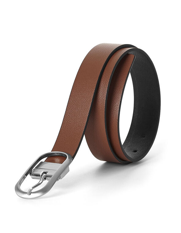 Brown/Black Reversible Belt, Brown/Black, hi-res