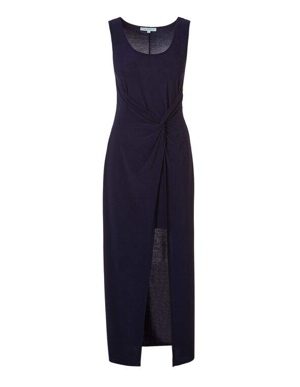 Navy Knot Maxi Dress, Navy, hi-res