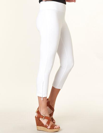 White Bling Capri Legging, White, hi-res