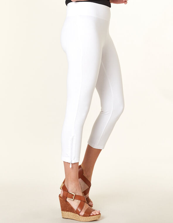 White Bling Capri Legging, White, hi-res