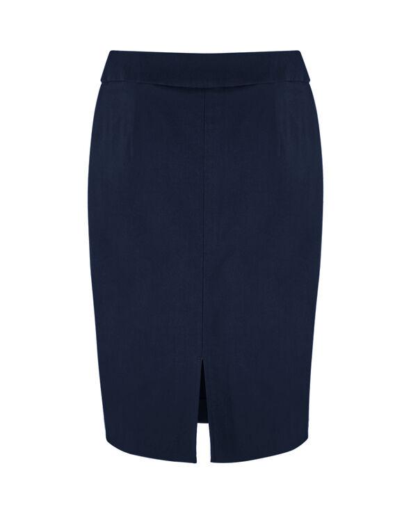 Navy Pull On Pencil Skirt, Navy, hi-res
