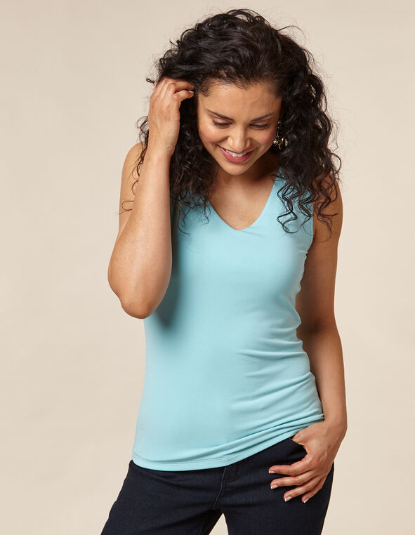 Light Blue Essential Layering Tank, Blue/Light Blue, hi-res