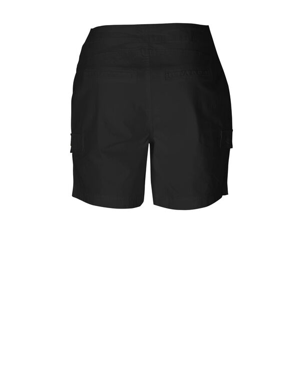 Black Cotton Short, Black, hi-res